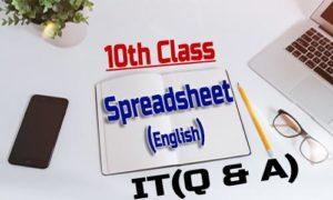 10th Class - Spreadsheet