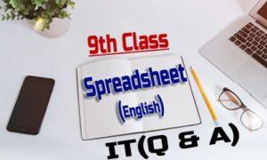 Spreadsheet 9th Class