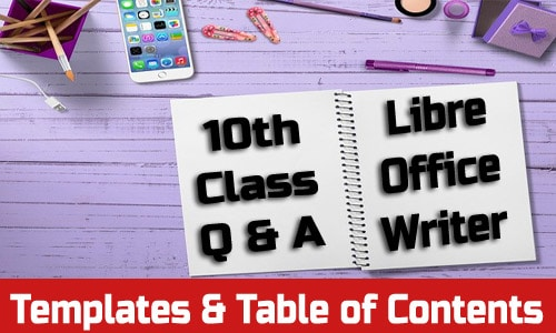 Templates and Table Of Contents - Writer